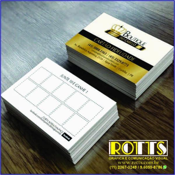 Cartão 250g/m² 4x1