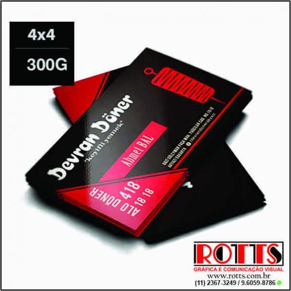 Cartão 300g/m² -------- 4x4 cores