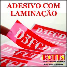 ADESIVO LAMINADO VINIL 0.10MM PERSONALIZADO 4X0 LAMINAÇÃO PERSONALIZADO