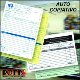 AUTO COPIATIVO NUMERADO Papel Offset 53g/m² 21x29,7 cm 1x0  Blocagem 50x2 vias, Numeração, Serrilha, Grampo e Refile