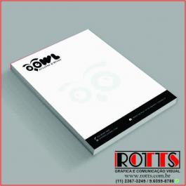 BLOCOS DE ANOTAÇÕES Offset 75g/m² 7,4x10 cm 1X0 Sem Revestimento Blocagem 100x1 Via