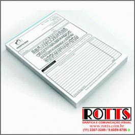 BLOCOS DE ORÇAMENTOS Offset 75g/m² 21x29,7 cm 1X0 Sem Revestimento Blocagem 100x1 Via