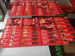 CARDÁPIO EM PS 2MM PS 2MM Personalizado 4x0 e 4x4 cores ADESIVADO + LAMINAÇÃO CORTE RETO
