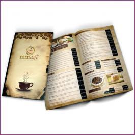 Cardápios 8 Páginas Com Dobra Reciclato 250g RECICLATO 250g sangria: 320x470mm  Final do material: 317x467mm 4x4