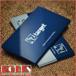 Cartão 250g/m² 4x4 cores Couchê 250g/m² 4,8x8,8 cm 4x4 Verniz Total Brilho Frente Corte reto