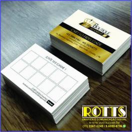 Cartão 250g/m² 4x1 Couchê 250g/m² 4,8x8,8 cm 4x1 Verniz Total Brilho Frente Corte reto