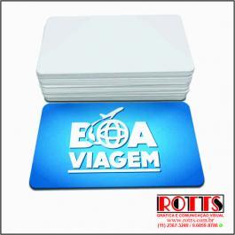 Cartão 300g/m² Couchê 300g/m² 4,8X8,8 CM 4x0 Verniz UV Total Frente 4 Cantos Arredondados