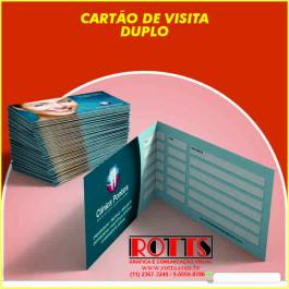 Cartão 300g/m²  4X4 CORES Couchê 300g/m² 4,8x17,7 cm 4x4 Verniz Total Brilho Frente Vinco Central