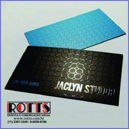 Cartão 300g/m²  4x4 cores Couchê 300g/m² 4,8x8,8 cm 4x4 Laminação BOPP Fosca Frente e Verso c/ Verniz UV Local Frente Corte reto