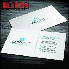 Cartão 300g/m² 300g/m² 4,8x8,8 cm 4x4 Laminação BOPP Fosca Frente e Verso Corte reto