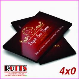 Cartão 300g/m² Couchê 300g/m² 4,8x8,8 cm 4x0 Verniz Total Brilho Frente Corte reto