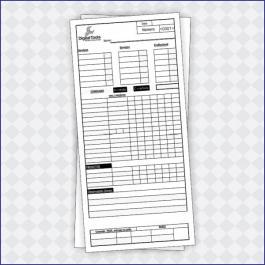 COMANDAS APERGAMINHADO  75G Sangria: 100x210mm  Final do material: 97x207mm 1x1 Impressão: DIGITAL