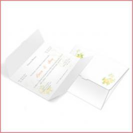 CLÁSSICO 05 Envelope Couchê 250g 132x175mm 4x4 Sem Verniz Corte e Vinco Padrão