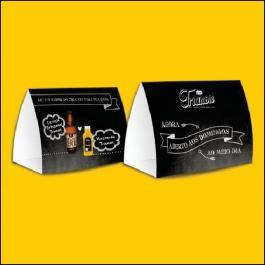 DISPLAY DE MESA 300g/m² Formato: 8,8x28,5 cm Aberto / 8,8x9,7 cm Fechado 4x0 Verniz Total Brilho Frente Corte e vinco