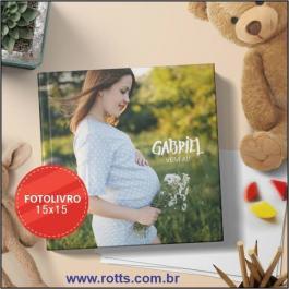 FOTOLIVROS OU PHOTOBOOKS 12 PÁGINAS  150 15X15CM 4x4 Couche brilho Capa papel paraná  Miolo papel Hot Melt