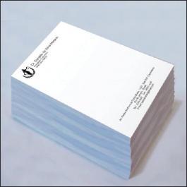 PAPEL TIMBRADO Offset 75g/m² 21x29,7 cm 1x0 (Escala de Preto)  Corte Reto