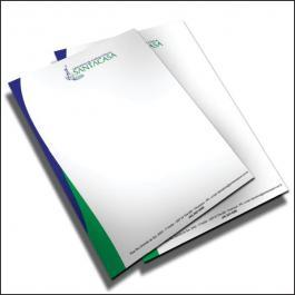 PAPEL TIMBRADO Offset 90g/m² 21x29,7 cm 4x0  Corte Reto