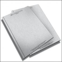 PAPEL TIMBRADO Reciclado 90g/m² 21x29,7 cm 1x0 (Escala de Preto)  Corte Reto