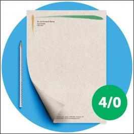 PAPEL TIMBRADO Reciclado 90g/m² 21x29,7 cm 4x0   Corte Reto