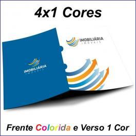 PASTAS Cartão 250g/m² Aberto: 44x32 cm Fechado: 22x32 cm 4x1  Verniz Total Brilho Frente Corte vinco