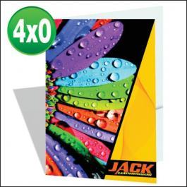 PASTAS Cartão 300g/m² Aberto: 44x32 cm Fechado: 22x32 cm  4x0 Laminação BOPP Fosca Frente e Verso Corte vinco