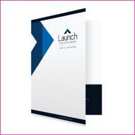 PASTAS Cartão 300g/m² Aberto: 44x32 cm Fechado: 22x32 cm  4x4 Laminação BOPP Fosca Frente e Verso Corte vinco