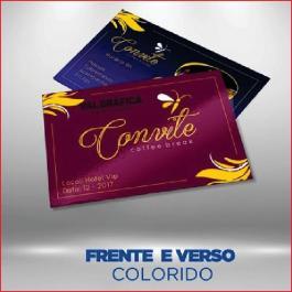 POSTAIS 300g/m² 14,7x19,6 cm 4X4 Verniz Total Brilho Frente Corte Reto