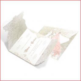 Romântico 05 Envelope Aspen Perolizado 180g 185x419mm 4x4 Sem Verniz Corte e Vinco Padrão