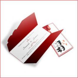 Romântico 08 Envelope Aspen Perolizado 180g 110x210mm  4x4  Sem Verniz Corte e Vinco Padrão