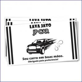 TAPETE PARA CARROS Offset 75g/m² 30x42 cm  1x0 (Escala de Preto)  Corte Reto