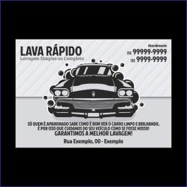 TAPETE PARA CARROS Offset 75g/m² 30x42 cm 2x0 (Escala de Preto e Ciano)  Corte Reto